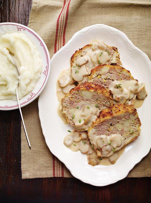 Pain de viande blanc, sauce aux champignons Recettes | Ricardo