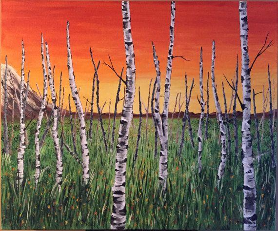 Original Acrylic Painting  Summer Sunset by KristiBonham on Etsy