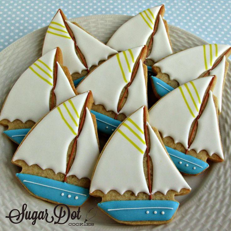 Sugar Dot Cookies: Sailboat Cookies