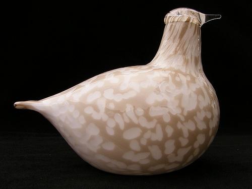 Iittala Willow Grouse glass bird