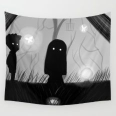 Lila - Limbo Video Game Illustration Wall Tapestry