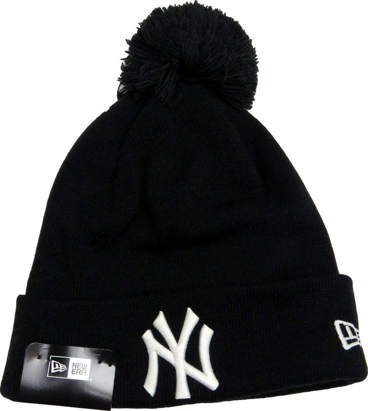 NY Yankees New Era Mixed Glow In The Dark Black Bobble Hat