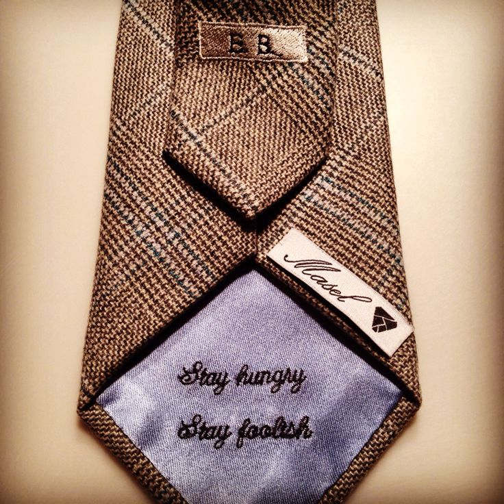"""Stay Hungry, Stay Foolish"" Masel Dedication Tie 100% E Zegna Premium Cashmere Tailor your Masel @ masel.me"