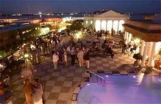 HIGH END RESTAURANTS AND HOTELS | Rooftop Pavilion Bar near the Market - Downtown Charleston, SC.  This is the best place to take a first-time visitor early on in their visit.  You can see the entire city and the view is amazing! | www.bocadolobo.com