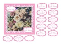 Birthday card with roses print   sentiments for milestone birthdays on Craftsuprint - View Now!