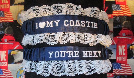 US Coast Guard Garter set with I love my by CreativeGarters, $32.00