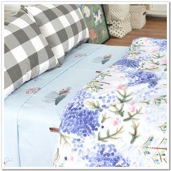 棉布 纯棉床品面料全棉被套件套床单床笠布料 幅宽2.5米 回忆点点