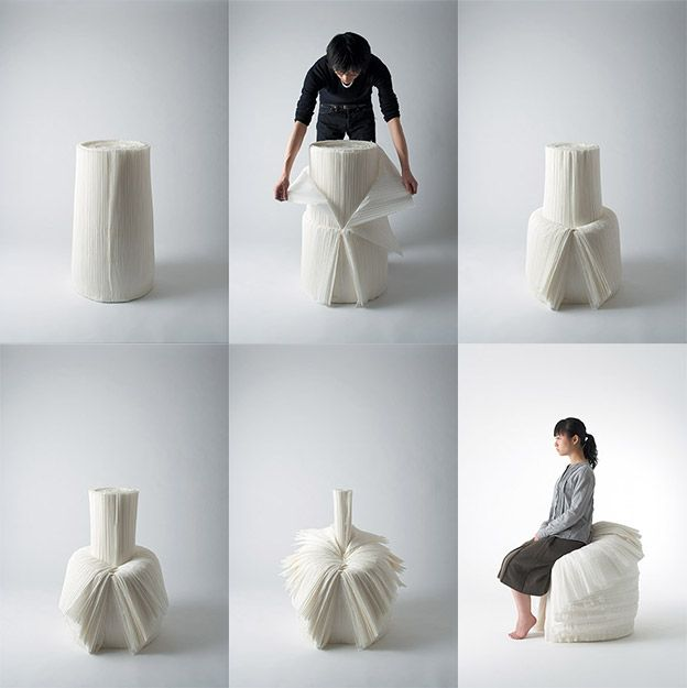 Zoom sur... Oki Sato | MyHomeDesign Cabbage chair by Nendo