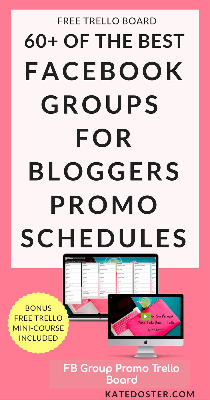 The Best 60  Facebook Groups For Bloggers Promo Da…