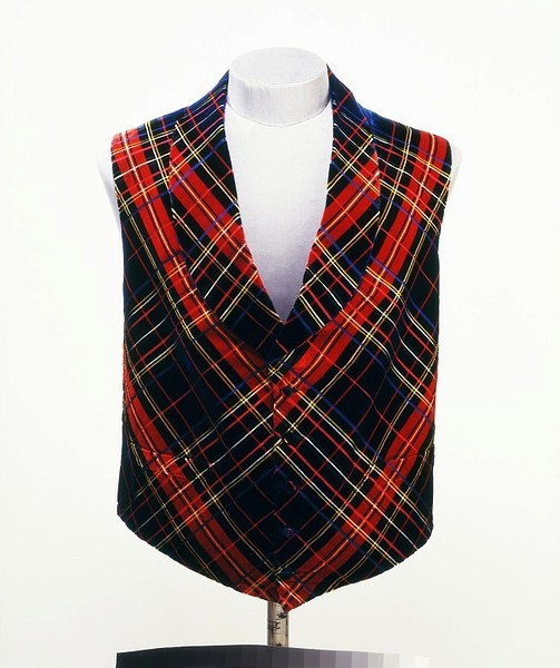 Waistcoat, ca. 1850 (made). Woven silk velvet, lined with sateen. England.  Victoria & Albert Museum, #T.133-1967