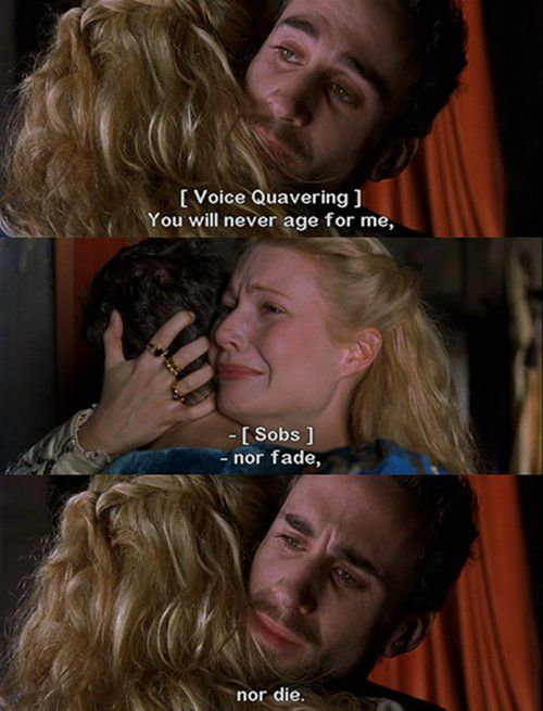 """favorite """"adult"""" movie ever - Shakespeare in Love"""