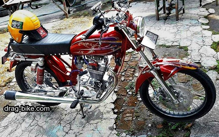 Modifikasi Cb 100 Mesin Tiger Motor Honda Cb Drag Racing