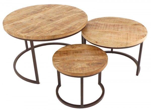 Trintage salontafel rond set van 3