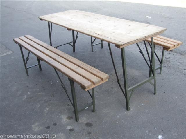 British Army 6ft Folding Trestle Table Industrial Cafe Upcycle Retro Shabby Chic