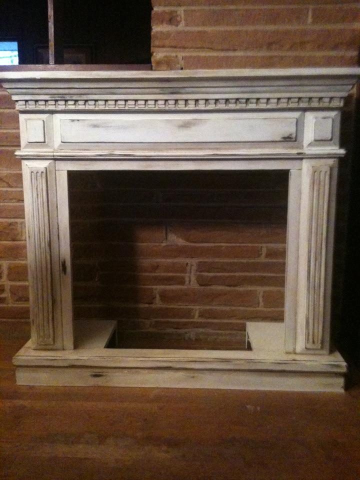 after Annie Sloan Chalk paint, pure white, lots of distressing and dark wax