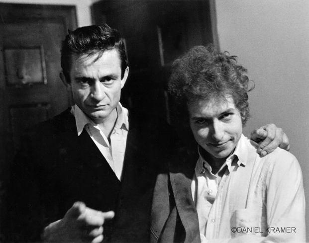 Bob Dylan and Johnny Cash backstage, New Brunswick, N.J., 1965.: Music, Bobs, Bob Dylan, Johnny Cash, Photo, Johnnycash, Bobdylan, People, Dylan O'Brien