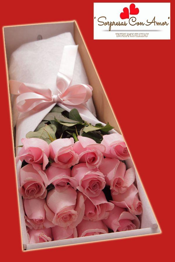 Caja Con Rosas * Ramo de Rosas (Color De Su Elección 12 rosas) * Caja En Cartón Adornada con Lindo Moño * Tarjeta Según Ocasión. Precio: $69.990