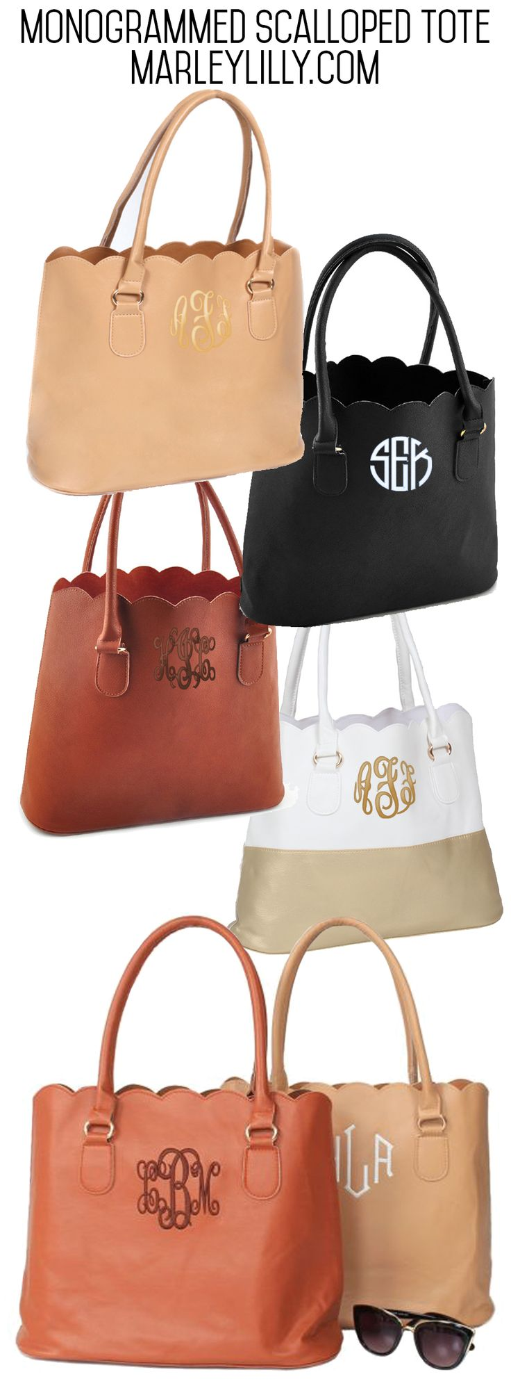 Scalloped Tote from Marleylilly.com! #preppy #purse #trendy #summer #fashion