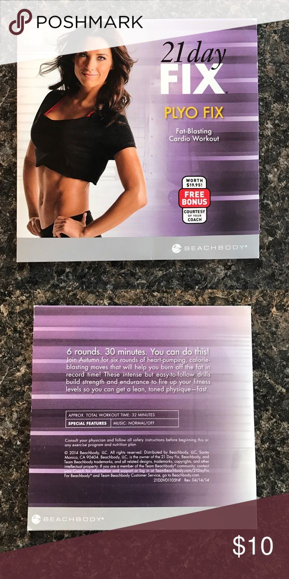 21 day fix plyo fix 21 day fix plyo fix DVD, 32 minutes.  Never used. Other