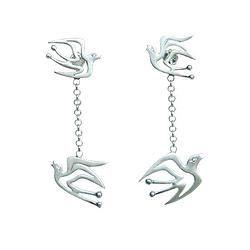 Hope Birds pair - silver earrings - my-precious.com