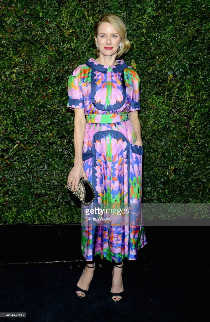 Actress Naomi Watts, wearing CHANEL, attends the Charles Finch and CHANEL Pre-Oscar Awards Dinner at Madeo Restaurant on February 25, 2017 in Beverly Hills, California.