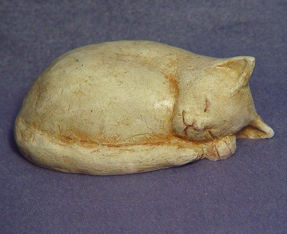 Cat series 2  Handmade Ceramic Cat in Stoneware by TCChiuSculpture, $38.00