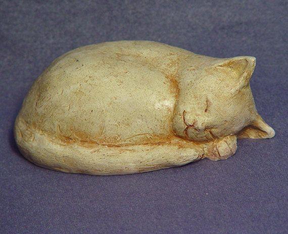 Cat series 2  Handmade Ceramic Cat in Stoneware by TCChiuSculpture, $38.00