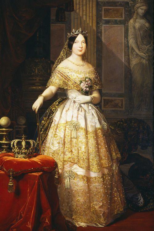 Isabel II, Queen of Spain, 1848.