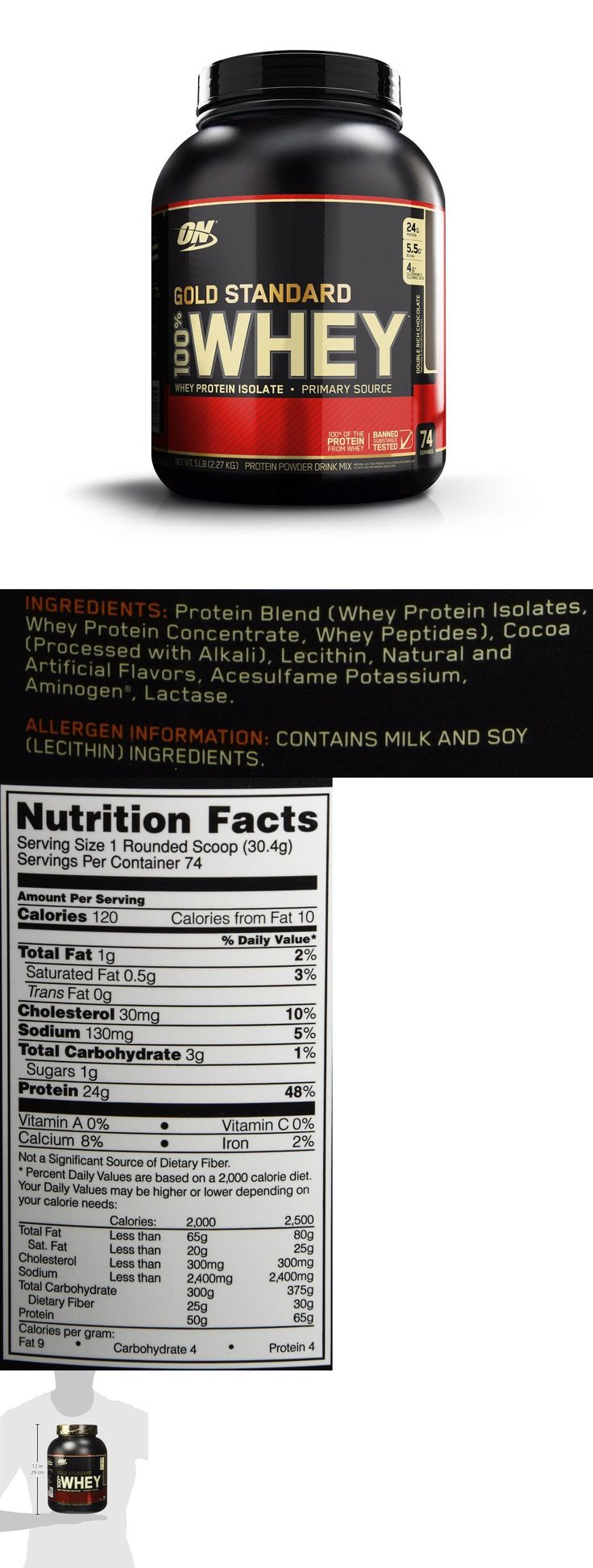 Protein Shakes and Bodybuilding: Optimum Nutrition Gold Standard 100% Whey Protein, Double Rich Chocolate 74 Serv -> BUY IT NOW ONLY: $48.98 on eBay!