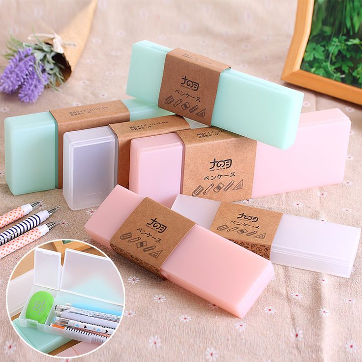 Cute Kawaii Transparent PP Plastic Pencil Case Lovely Pen Box For Kids Gift Office School Supplies & Best 25+ Plastic pencil box ideas on Pinterest | Glam camping Ole ... Aboutintivar.Com