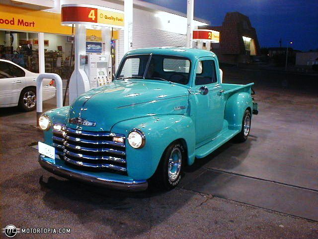 Turquoise Chevy Pick Up - because a girl has to have a way to haul her stuff.