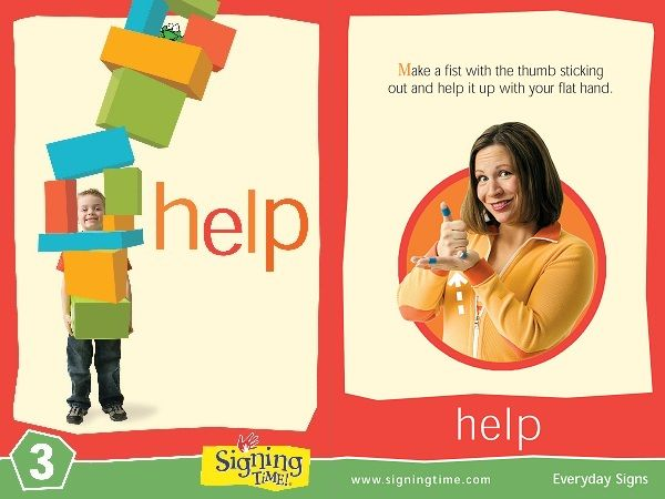 Learn Sign Language » Sign of the Week – Help