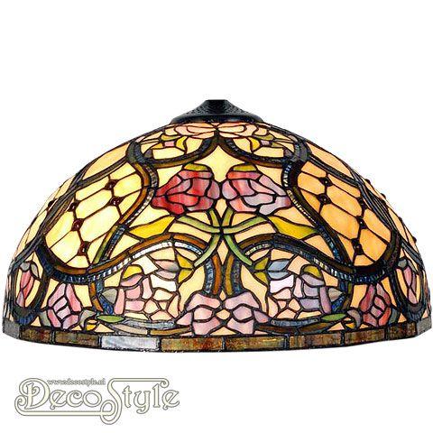 Tiffany Kap Ede (40CM)  Losse Tiffany kap. Helemaal vervaardigd met echt Tiffanyglas. Dit originele glas zorgt voor de warme uitstraling. Afmetingen: Hoogte: 23 cm Diameter: 40 cm