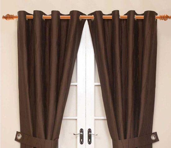 best 25 wooden curtain rods ideas on pinterest diy. Black Bedroom Furniture Sets. Home Design Ideas