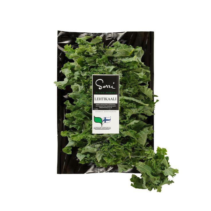 Sorrin pilkottu ja pesty Lehtikaali. Vaikken olekaan salaatti, olen vihreä voimaruoka, olen lehtikaali, ja minusta löytyy kaikki tarvittava, muttei rankaa.