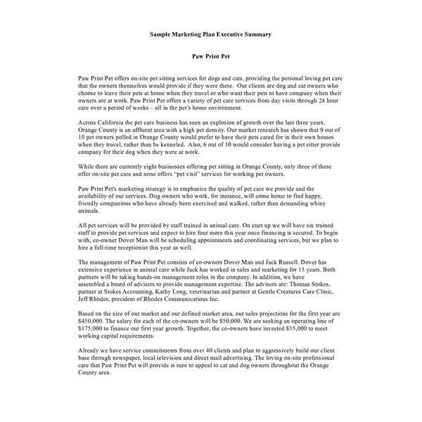 executive summary template 3