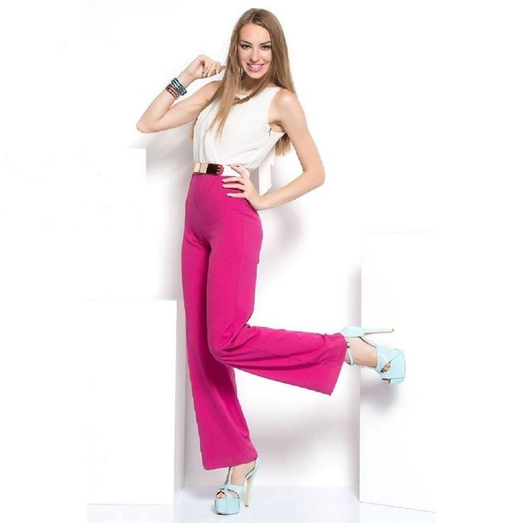 OVERALL JUMPSUIT lang pink Fuchsie Cream Playsuit Hosenanzug Abend Party