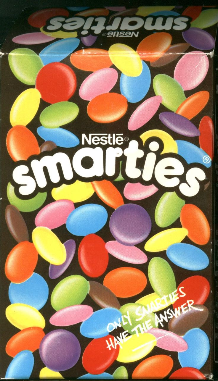 Smarties in a box - always felt extra special when I got a box!!