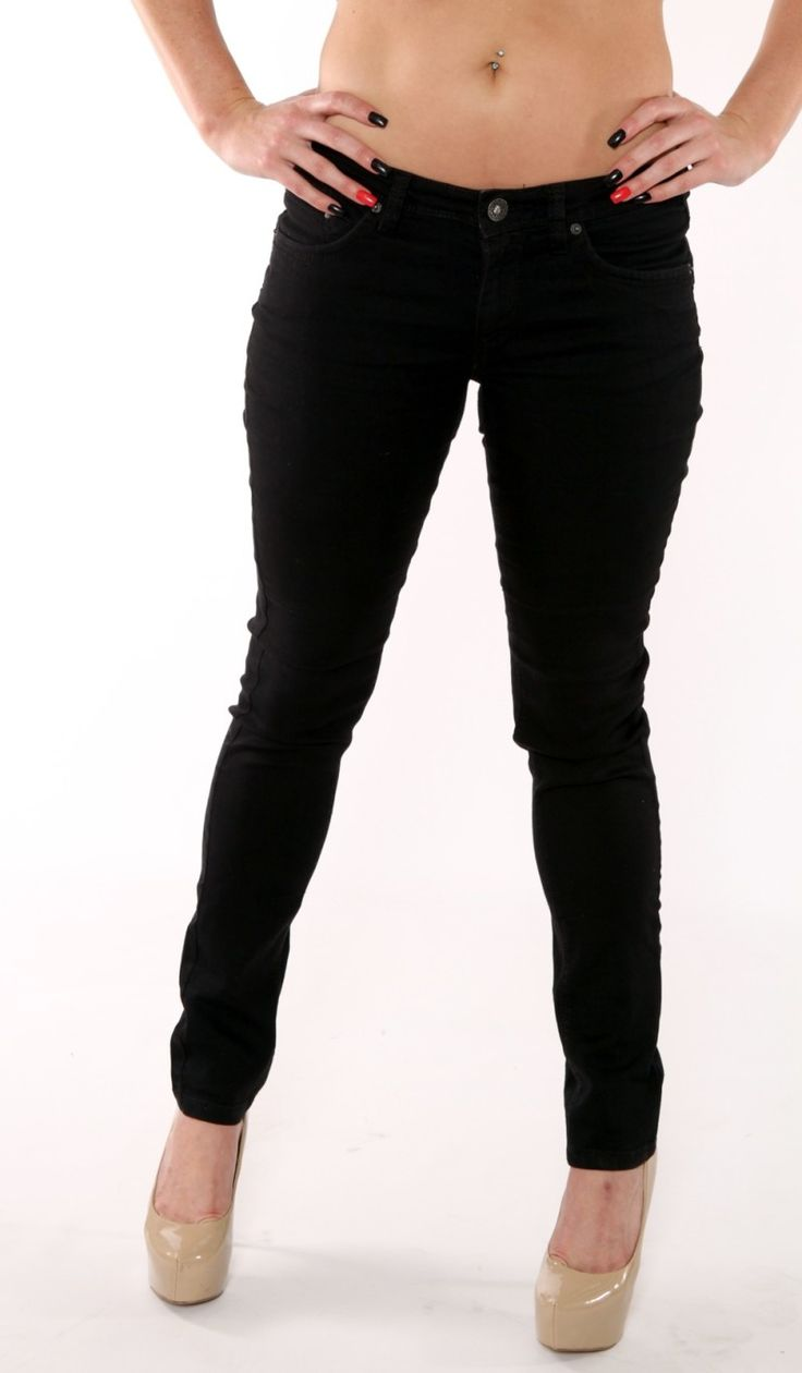 Ladies Stretch Black Skinny Jeans