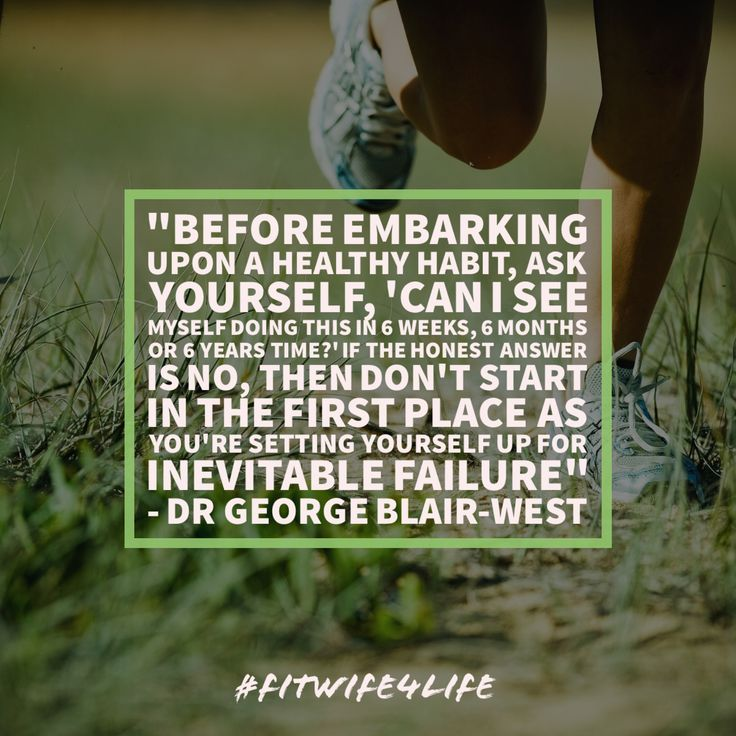 """'Before embarking upon (or continuing) a health habit, ask yourself the question, 'can I see myself doing this in 6 weeks, 6 months or 6 years' time?"""". If the honest answer is no, them don't start in the first place as you're setting yourself up for inevitable failure down the track' – Dr George Blair-West #healthylife #fitlife #beginasyouwishtocontinue #bridalicious #fitwife4life @fitwife4life"""