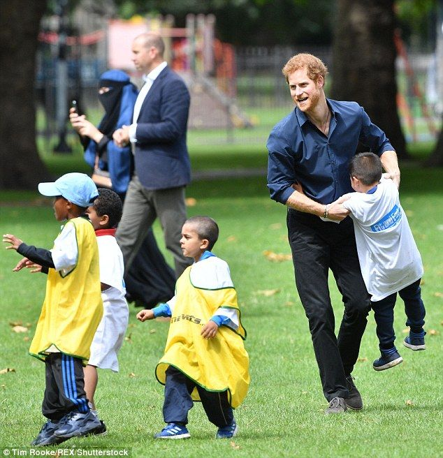 Harry looked to be in good spirits as he played with youngsters.Fit and Fed brings together community organisations from the StreetGames, Ambition and Sported networks