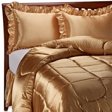 Scent-Sation Charmeuse Satin Queen Comforter Set - Gold - Bed Bath & Beyond