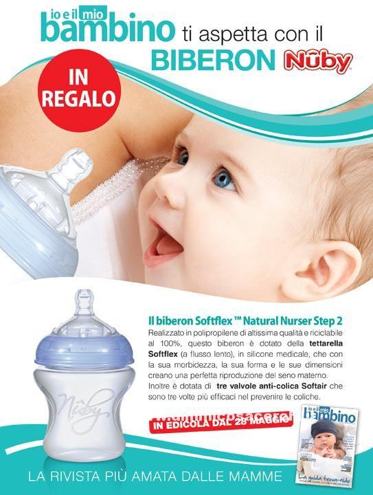 Biberon Nuby in omaggio con rivista Io e il mio Bambino - DimmiCosaCerchi.it