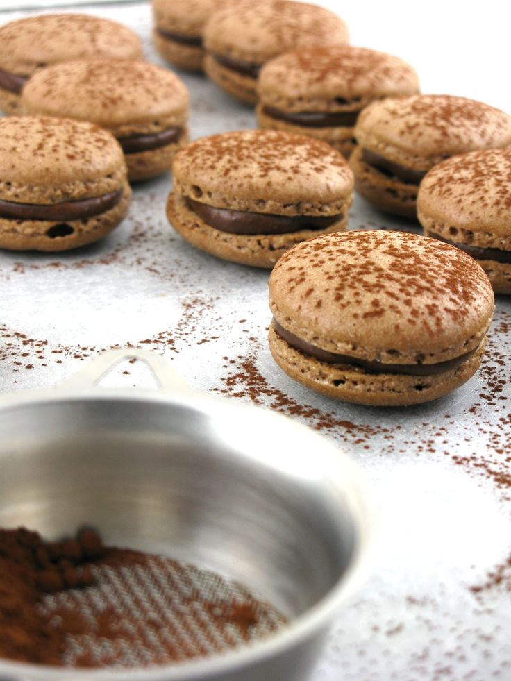 Chocolate Cinnamon Macarons with Orange & Chestnut ...
