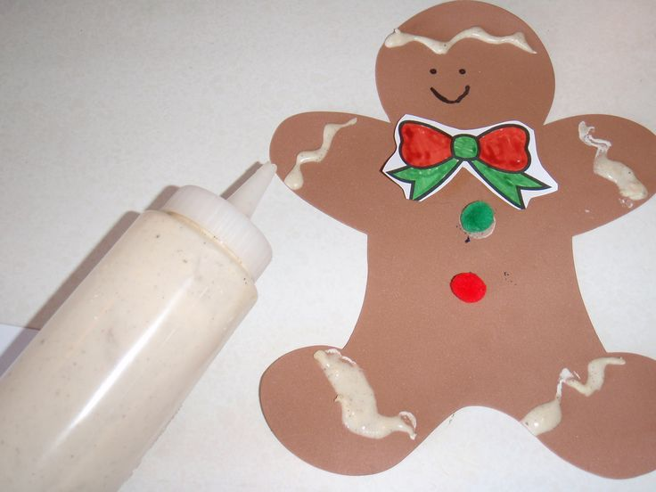 Flour paint and gingerbread gingerbread pinterest for Gingerbread crafts for kindergarten
