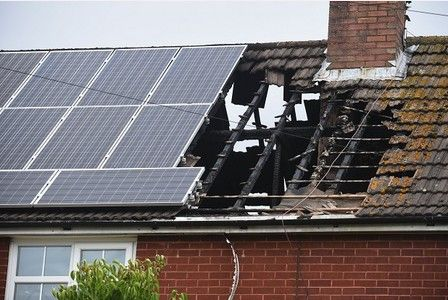 Update Solar Panels Believed Cause Of Lydney House Fire