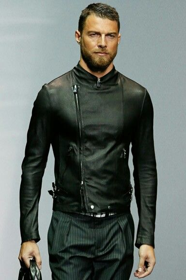 Armani leather and pants