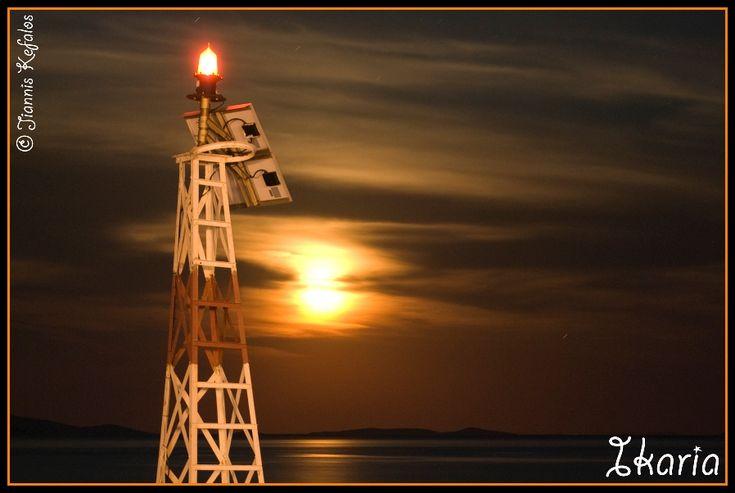 ikaria. a sunny moon...!