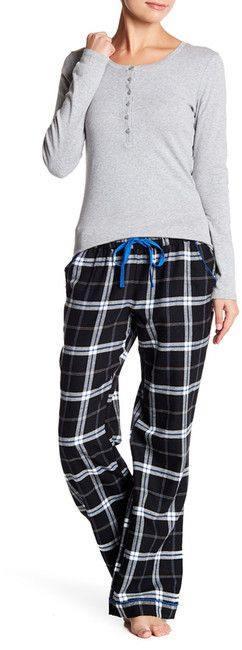These soft and cozy flannel pajama pants feature a pretty stitch trim detail and wide leg for utmost lounging comfort.Free Press Flannel Pajama Pants. Affiliate