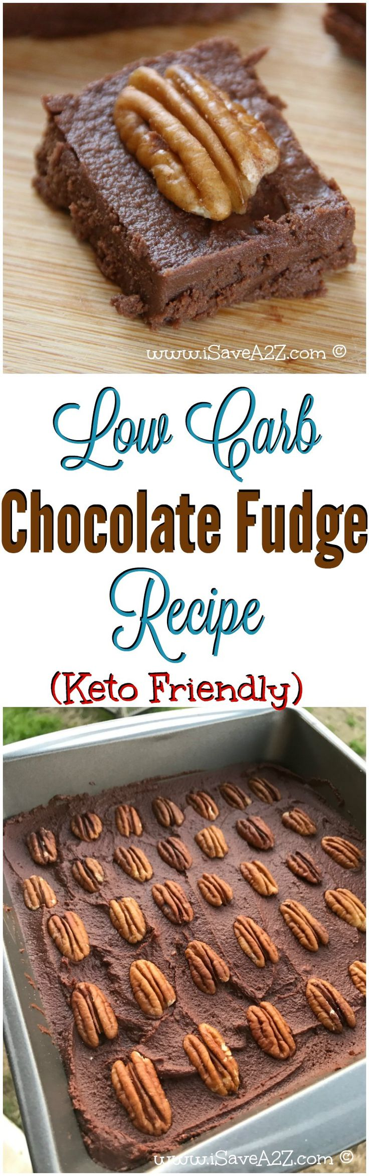 This keto friendly chocolate fudge MELTS IN YOUR MOUTH! via @isavea2z